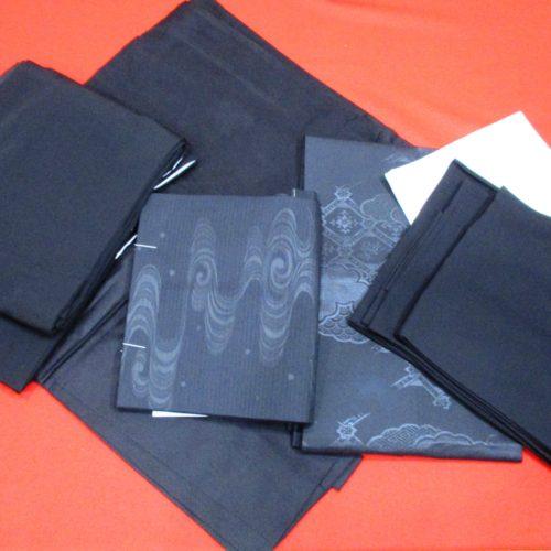 黒紋付着物・帯・羽織