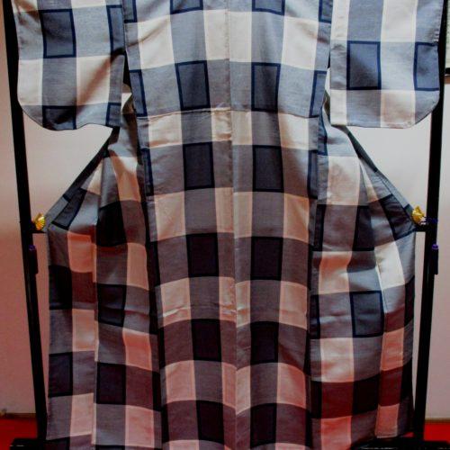紬かすり単衣