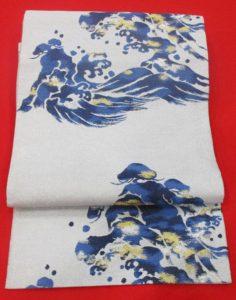藍染袋帯お太鼓
